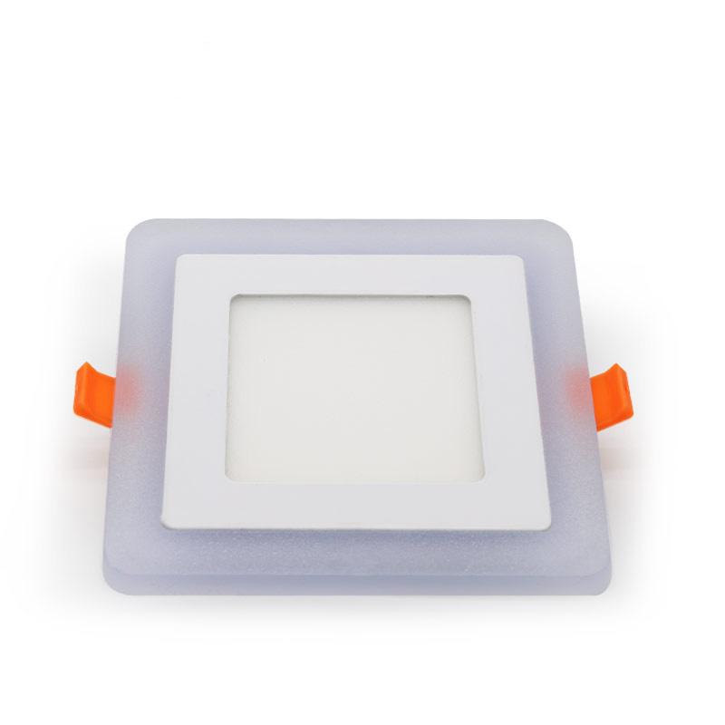 Bi-color led panel ultra-thin slim square cool white 16w light
