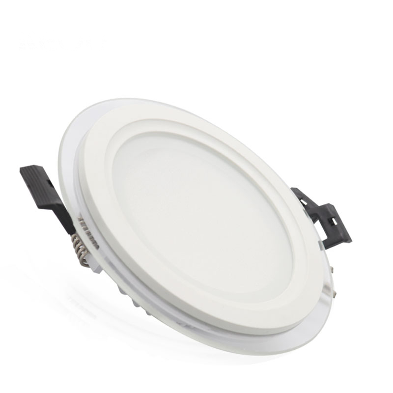 led light glass surface mounted downlight panel with 18W