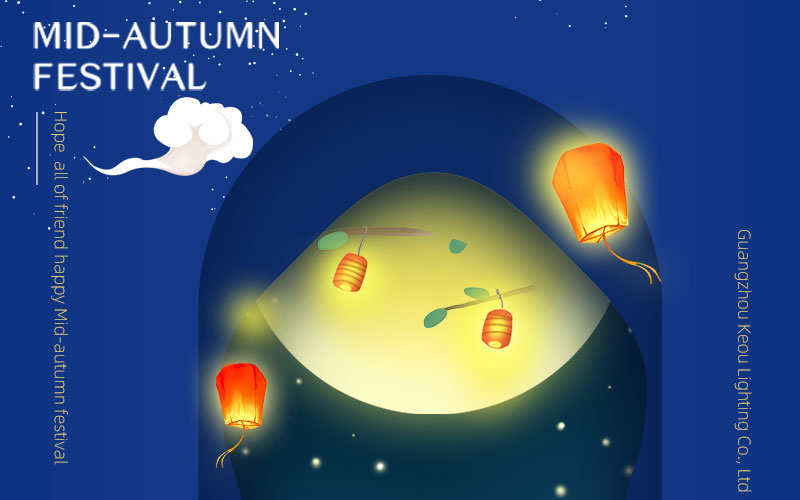 KEOU China led panel light factory- Happy Mid-Autumn Festival