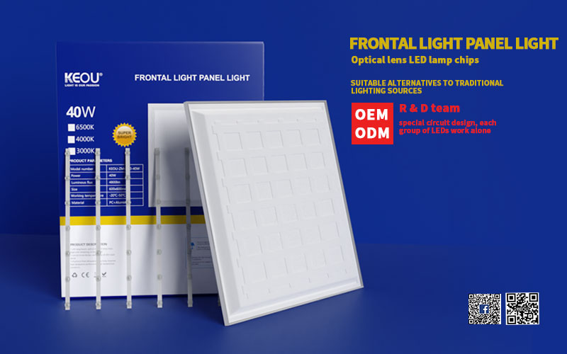 KEOU New Arrival Frontal Flat LED Panel Light Factory 600X600