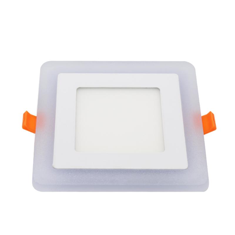 bi-color recessed 24w square downlight thin led panel