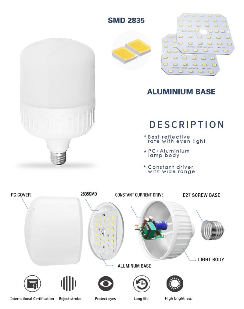 T shape led bulb