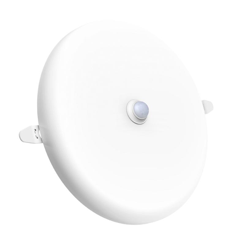 motion sensor led panel light 18w smart round frameless embedded ceiling lamp PC aluminum