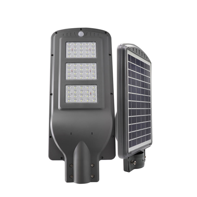 led solar street light 60w ip65 integrated all in one motion sensor outdoor aluminium die cast  housing price in guangzhou