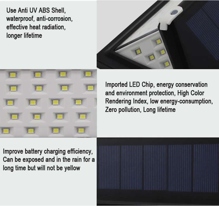 led solar light wall
