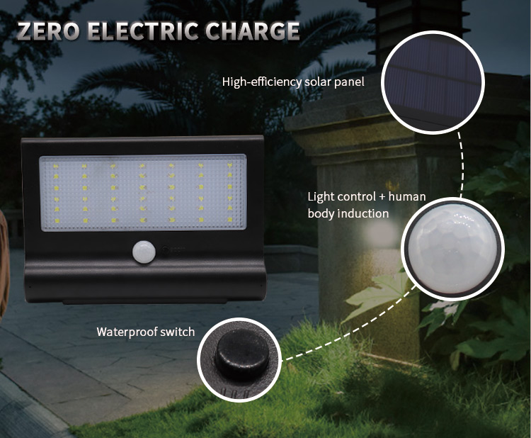 wall mount solar light