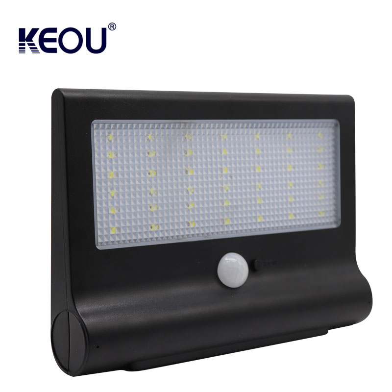 wall mount solar light China supplier Wireless Security outdoor waterproof surface mounted sensor powered energy saving led lamp