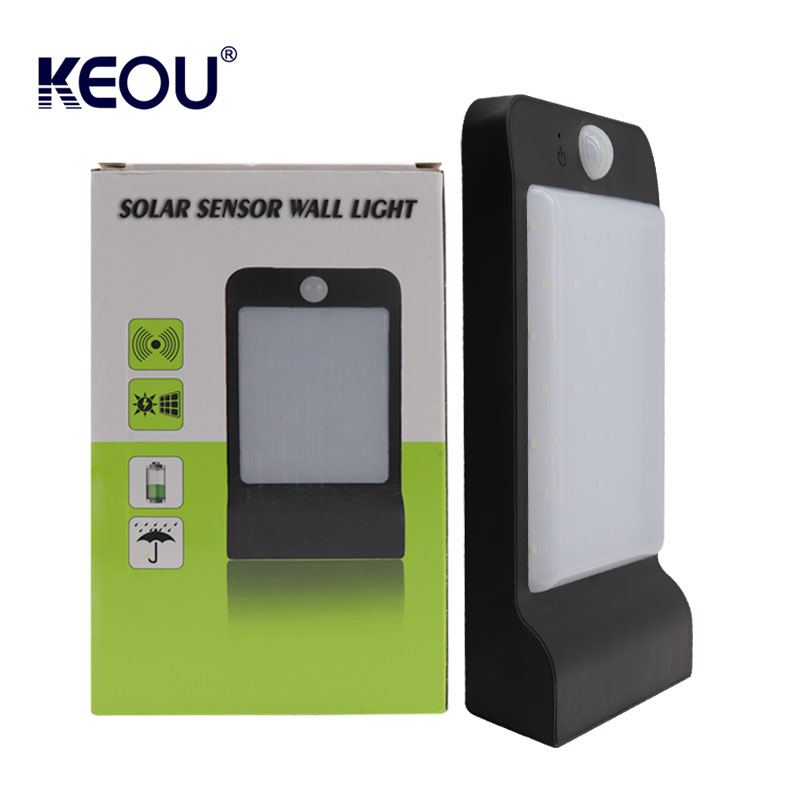 KEOU NEW PRODUCT LED SOLAR SENSOR WALL LIGHT FOR OUTDOOR GARDEN