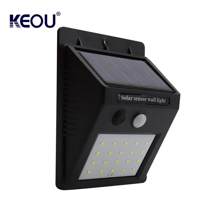solar sensor wall light outdoor PC CE RoHs mount sensor motion ip65 garden fixtures exterior waterproof led  lamp with battery