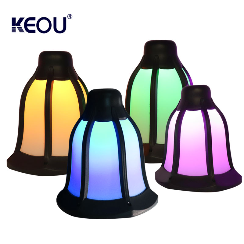 led solar flame lamp mounted surface rgb blue green red purple multicolor change ip65 outdoor waterproof battery smart design torch light