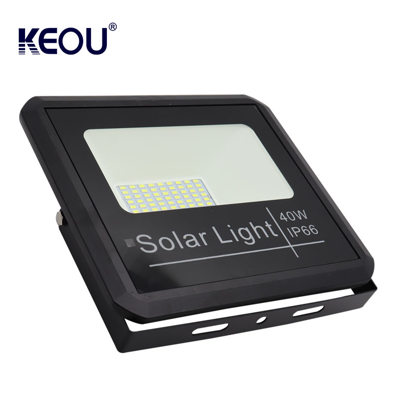 led solar flood light outdoor 40w High Brightness sensor smd powered battery security lamp with remote control