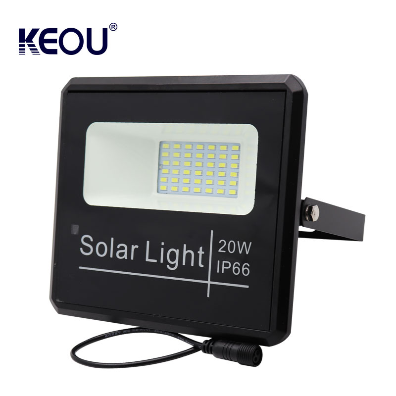 solar led floodlight 20w 6500K Remote Control Outdoor Waterproof IP66 SMD flood light for basketball tennis court