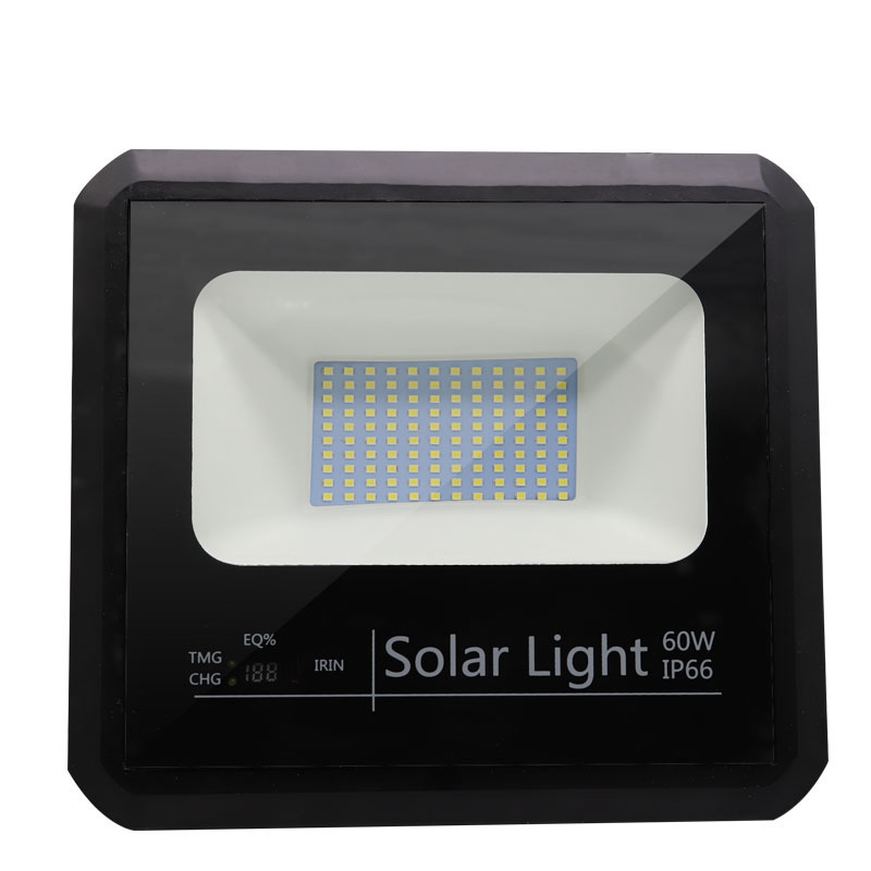 outdoor solar led flood light 60w Energy saving aluminum outdoor waterproof housing 60 watt lamp