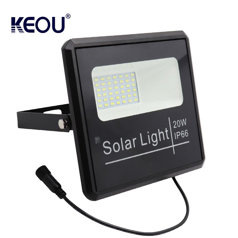 rechargeable 20w solar led flood light  New design outdoor ip66 motion sensor Wireless Waterproof Garden lamp