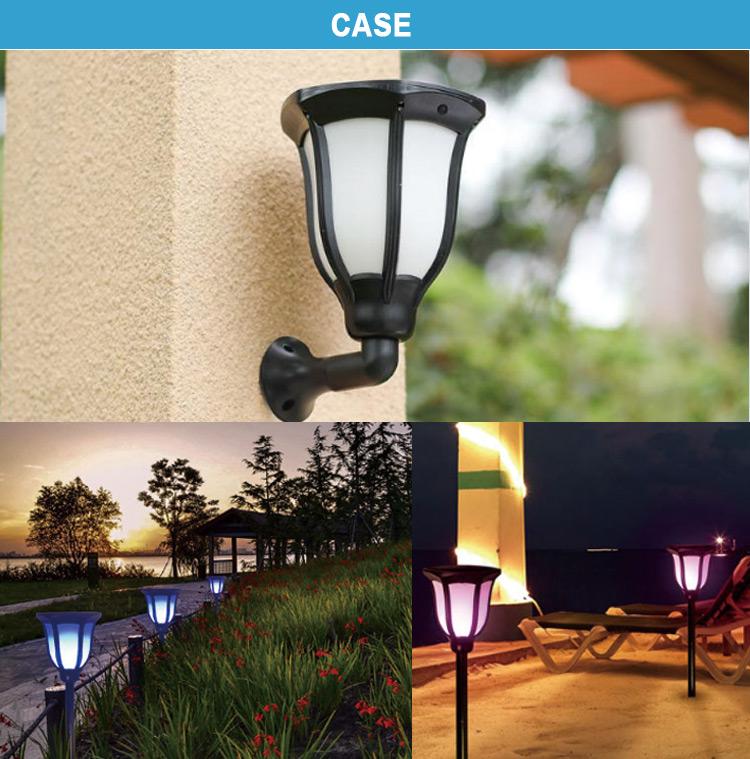 Motion sensor LED Solar flame light