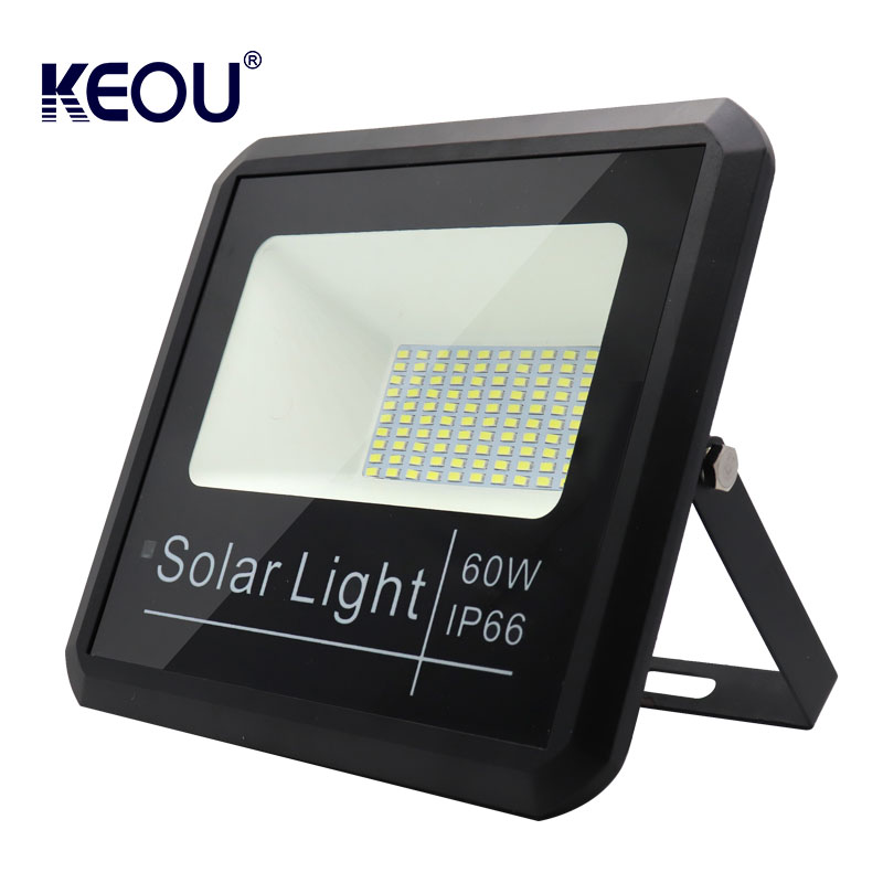 solar flood light led 60w energy power battery ip66 lamp waterproof 4000K outdoor lighting