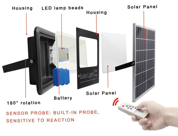 outdoor solar led flood light