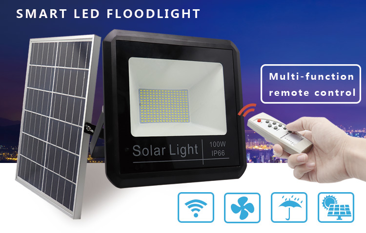 rechargeable 20w solar led flood light