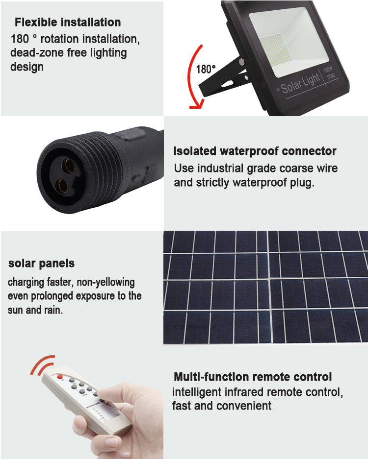 rechargeable 20w solar led flood light