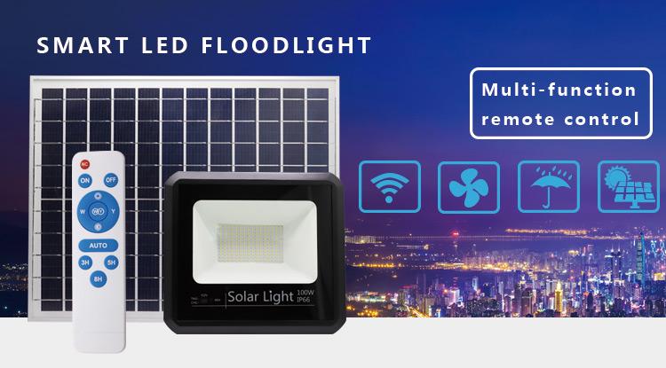 solar led flood light 100w