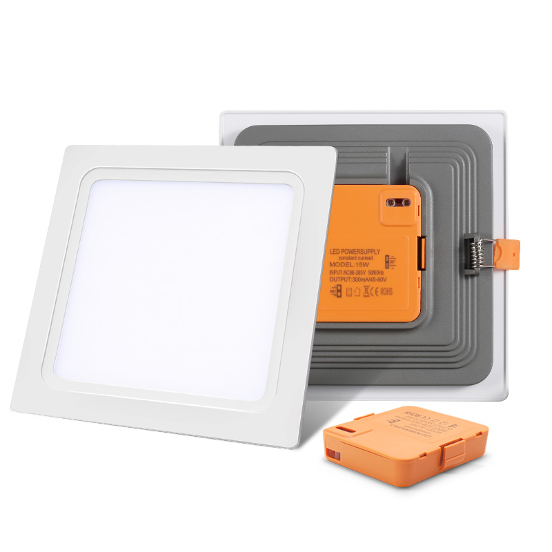 integrated led panel light 24w super bright new all in one square recessed downlight lamp