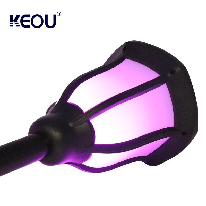 led light purple garden low price factory multicolor solar flame lamp with powered battery waterproof ip65
