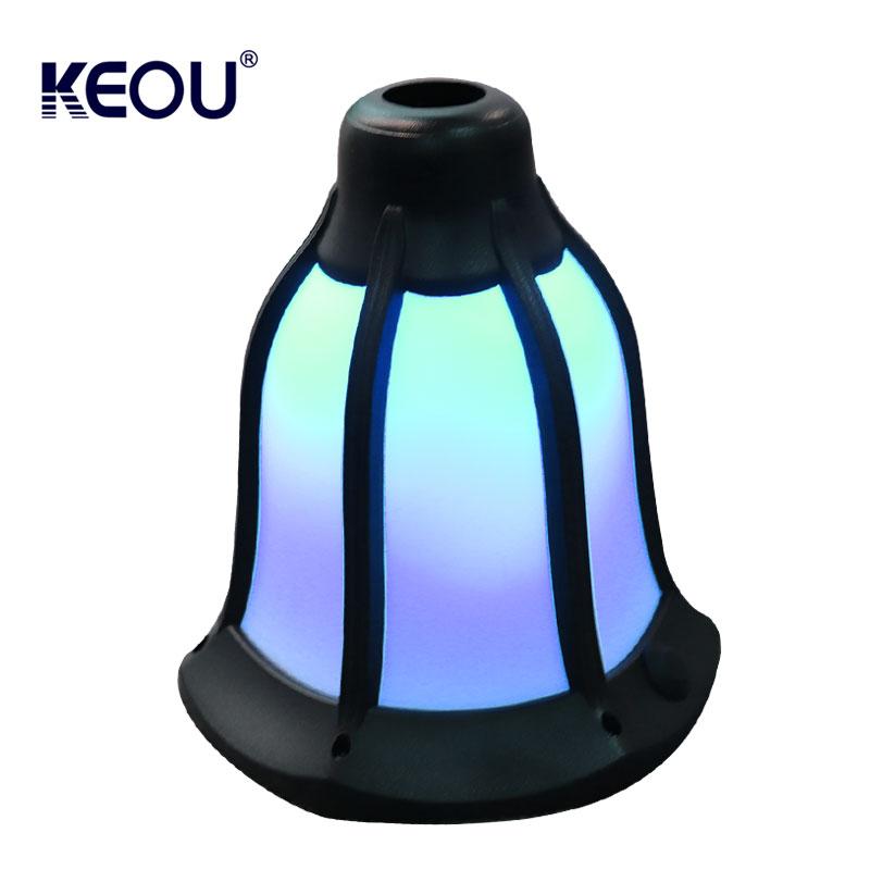 led light flame garden outdoor ip65 ABS PC Blue color multicolor intelligent smart solar lamp