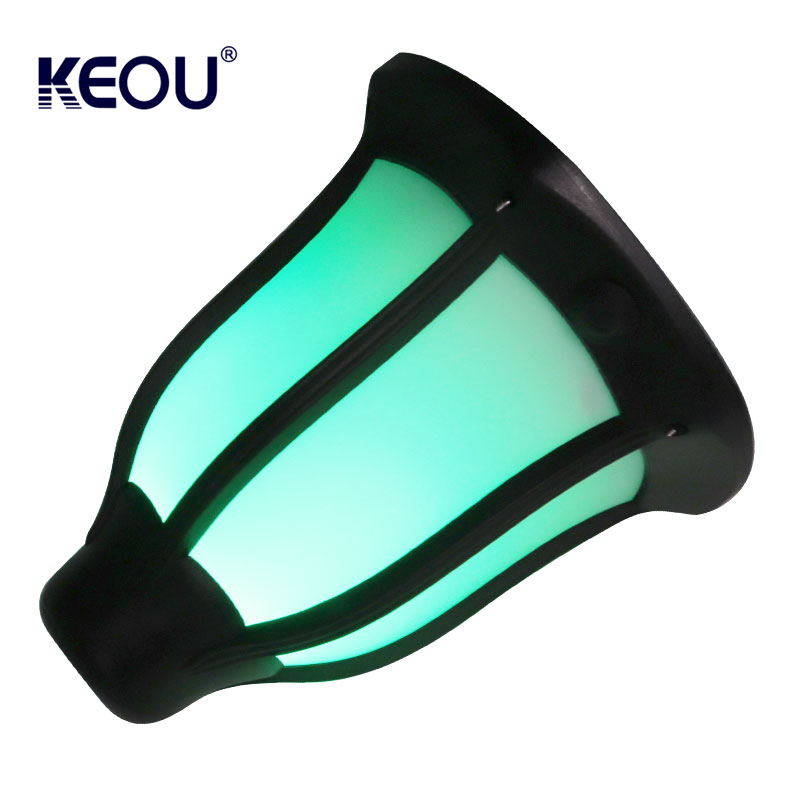 Green power solar led light waterproof outdoor torch powerful battery lamp with ABS PC IP65