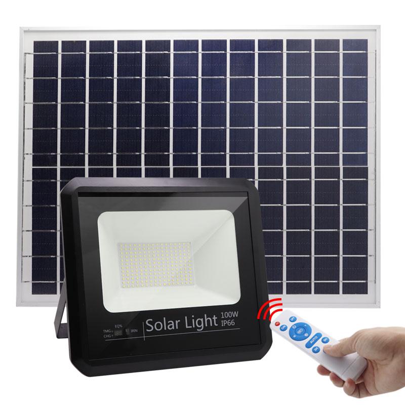 100w solar led flood light high power 100 watt surface smart  Heavy Duty Industrial Security Outdoor Floodlight ip66 lamp