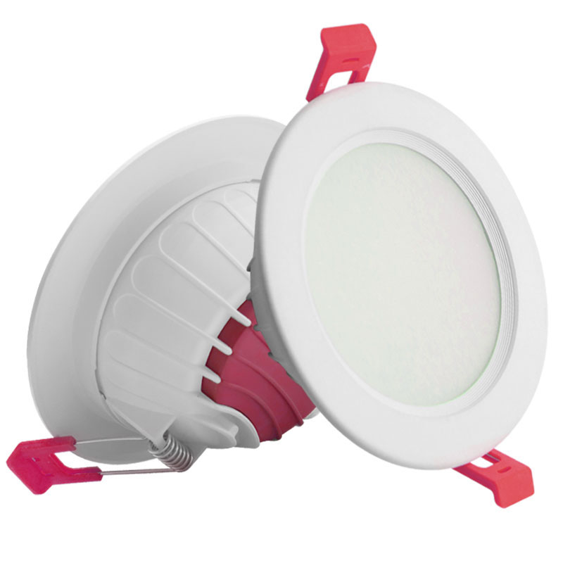 led downlight 18w New safety Indoor PC aluminum IP44 recessed light 18 watt embedded lamp multi-color