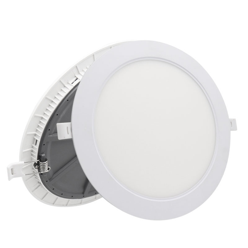 Ultra slim led panel light 18w super bright pc aluminum surface mounted 18 watt round thin recessed lamp with smd4014