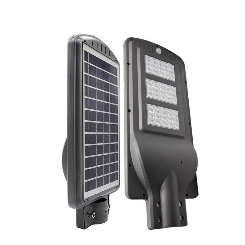 60watt solar led street light motion sensor wholesale factory price integrated 60w smart power battery ip66 waterproof lamp