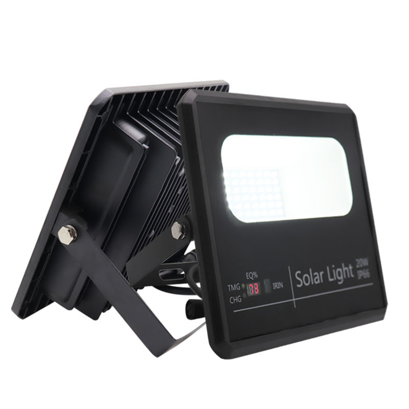 ip66 20w led flood light power battery CE RoHs ISO9001 waterproof outdoor solar lamp with remote control