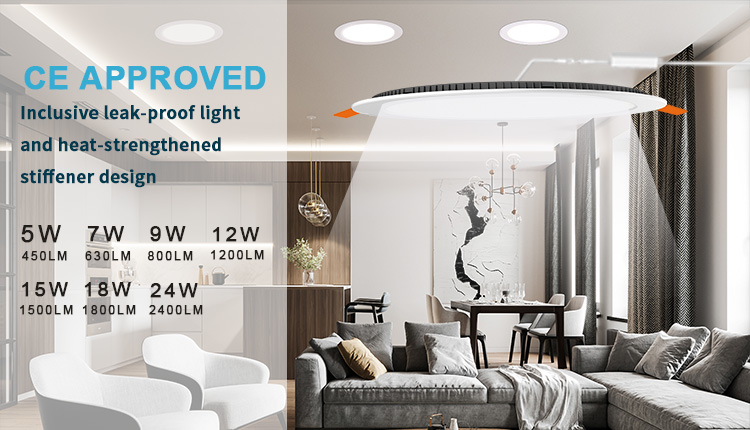 ultra slim led panel light 18w