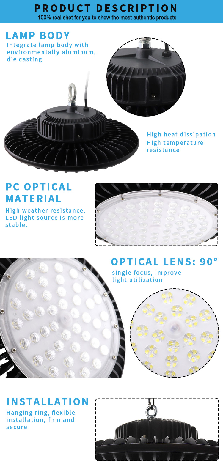 150w ufo led high bay light