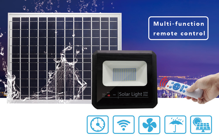 solar led flood light 60w