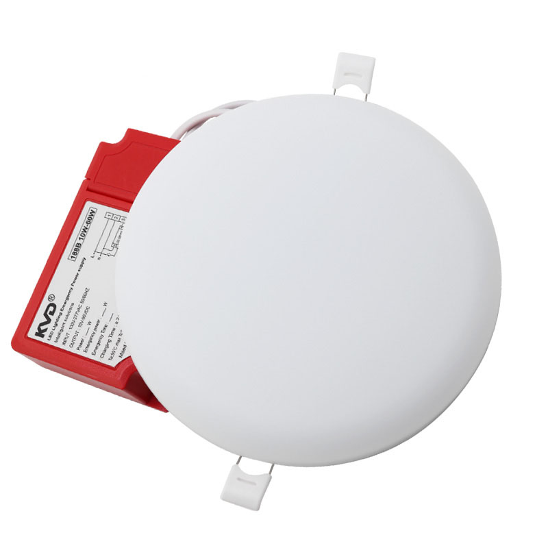 led panel frameless 36w emergency dimmable ip54 round recessed downlight home lamp