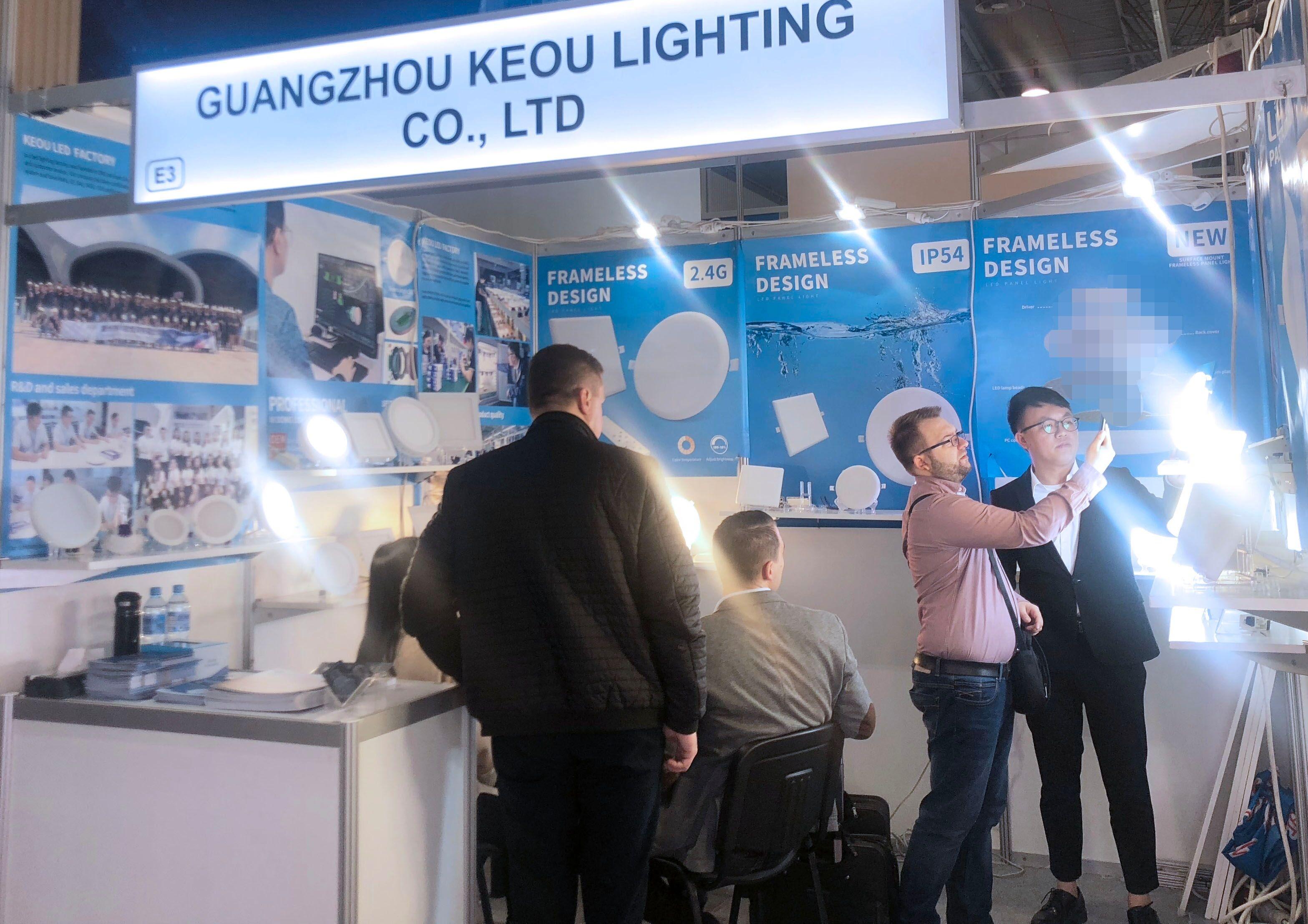 KEOU Frameless led light factory -Polish International Lighting Exhibition 2019