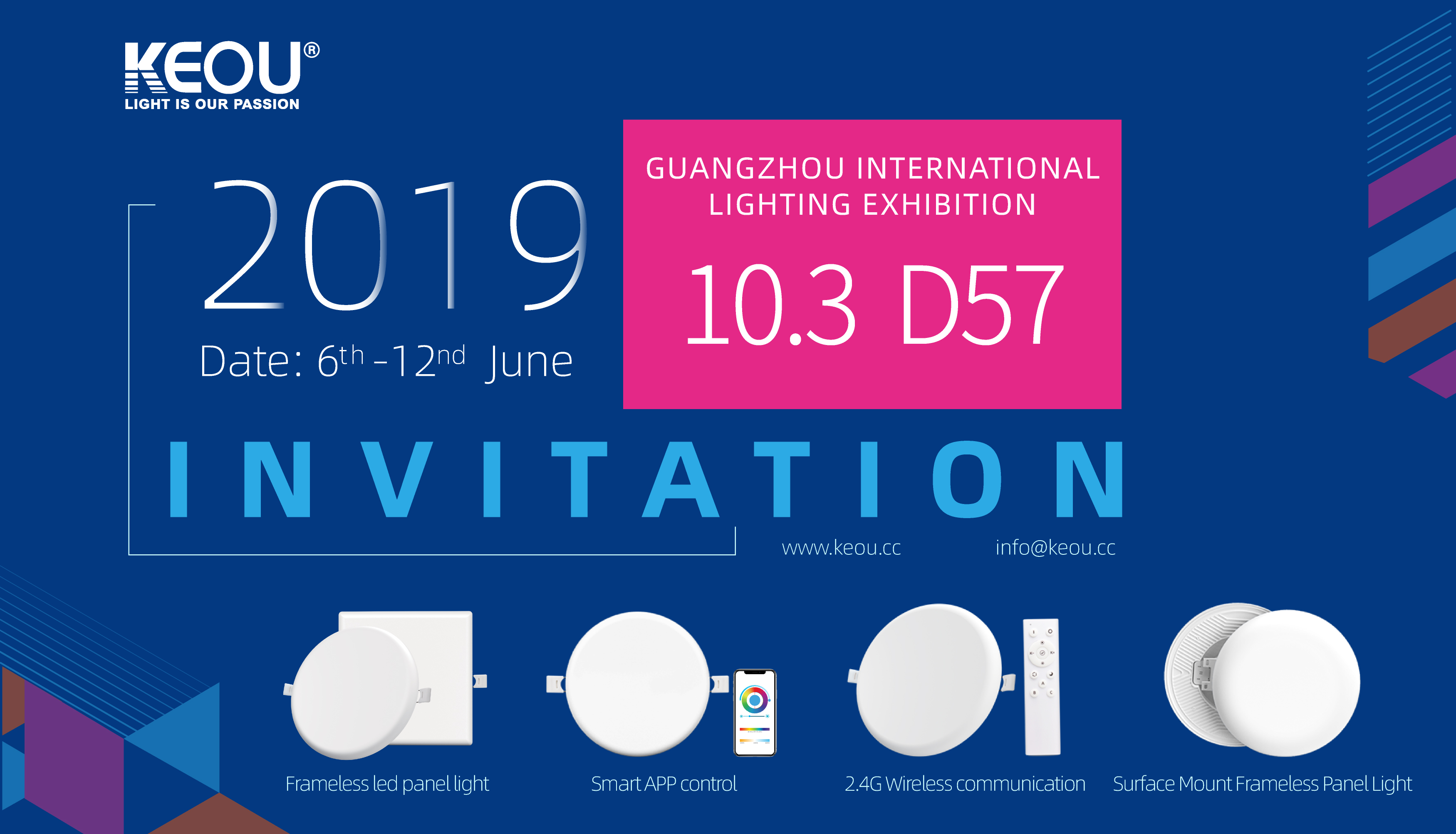 Led Panel Wholesale KEOU- Guangzhou International Lighting Exhibition