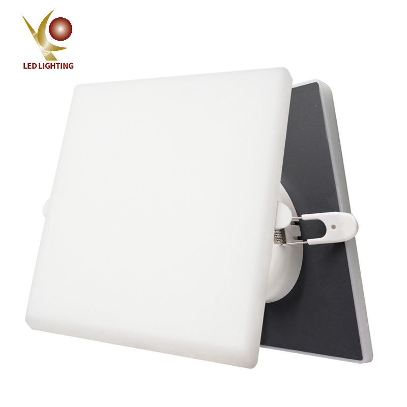 Square led downlights 24W COMI Brand borderless surface frameless panel light with smd2835