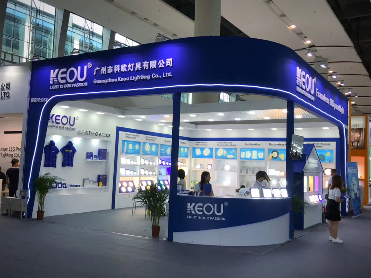 LED light panel supplier KEOU frameless design