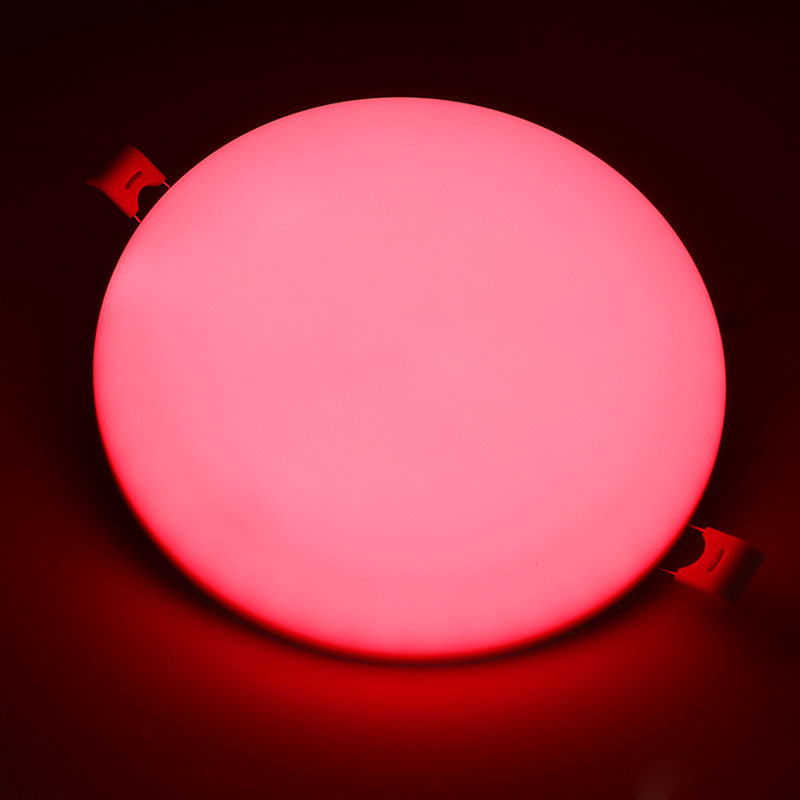 LED panel light rgb 24w colorful wifi bluetooth smart dimmable round frameless recessed lamp TUV CB CE RoHs