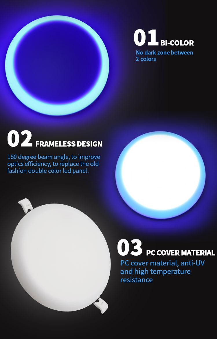 double color panel light