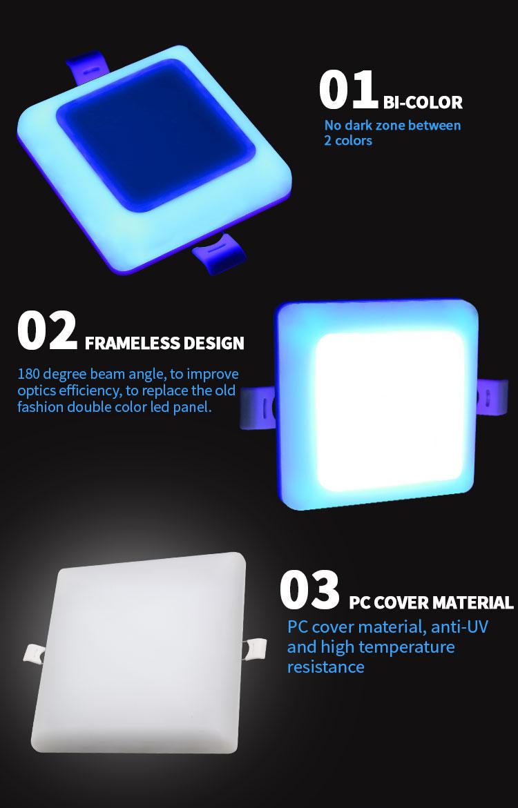 led frameless panel lamp