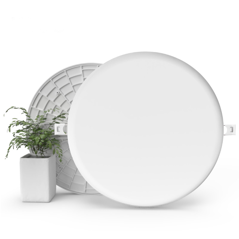 LED smart panel light 18W new warm white adjustable hole size frameless no frame recessed lamp