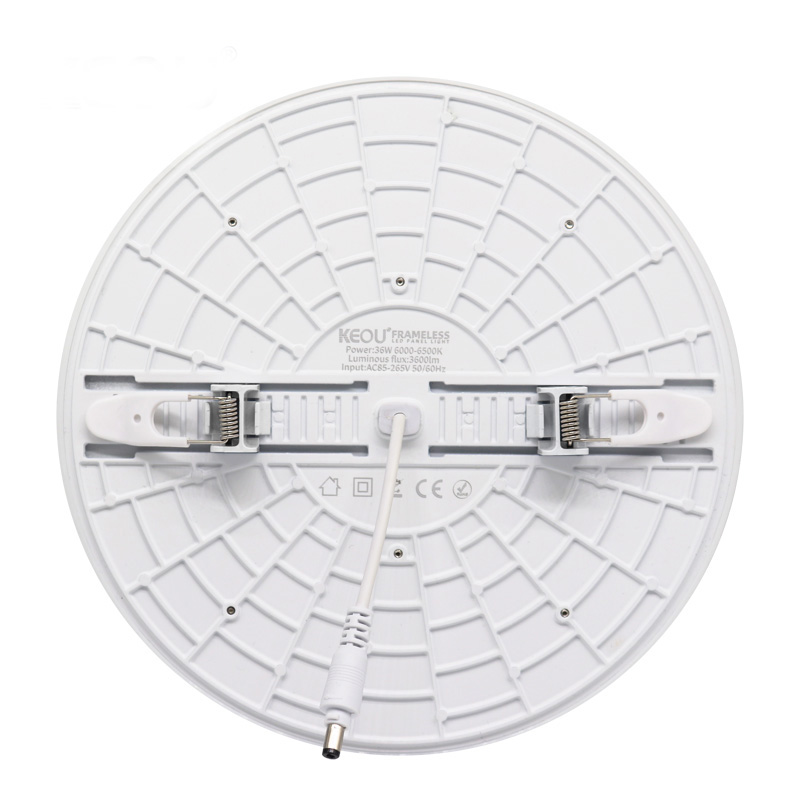 Adjustable led downlight 18W 24W 36W KEOU wholesale price China IP44 smd slim recessed dimmable frameless light factory
