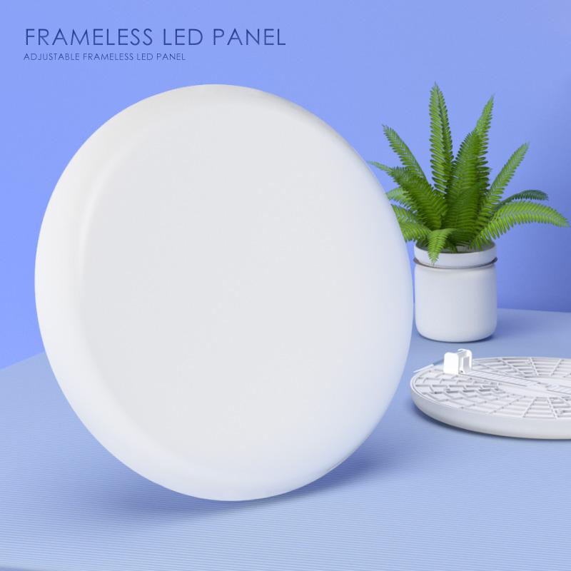 Adjustable led panel 36w new round frameless design light patent lamp