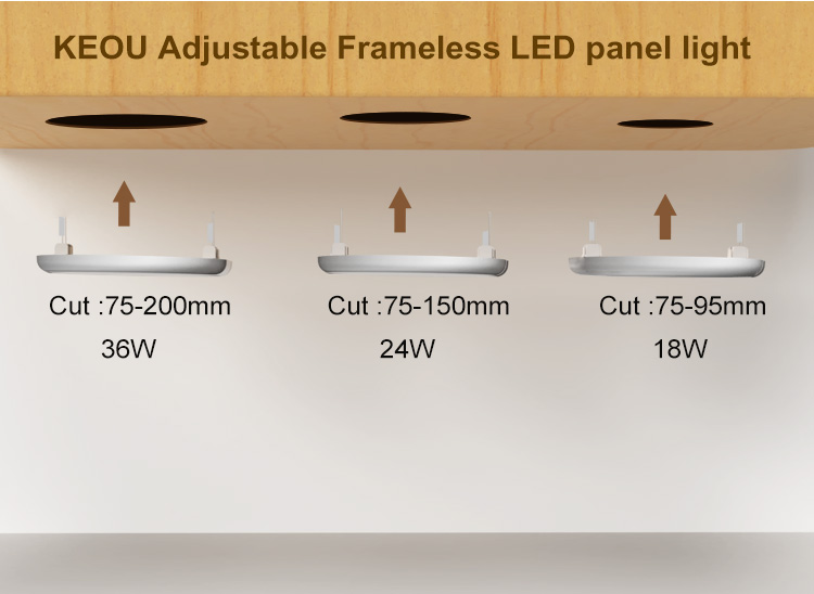 adjustable led panel light