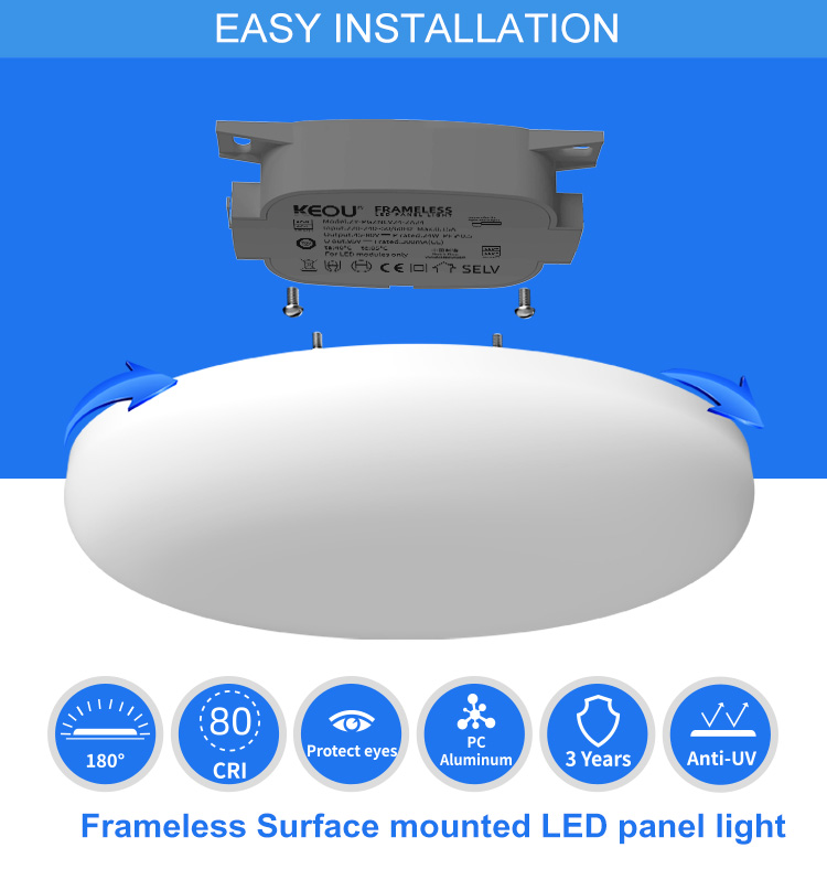 surface mounted led panel light factory