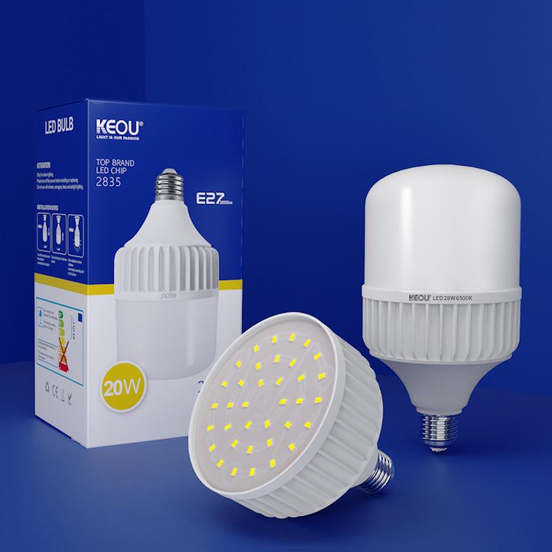 28W LED Bulb Light die casting aluminum T shape Column bulb lamp with CE RoHS smd2835